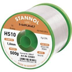 Neosvinčena žica za spajkanje Stannol HS10 2510 Sn99Cu1 500 g 1.0 mm