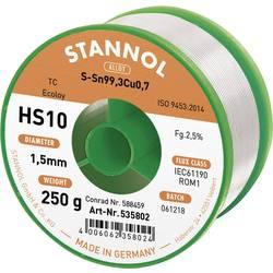 Neosvinčena žica za spajkanje Stannol HS10 2510 Sn99Cu1 250 g 1.5 mm