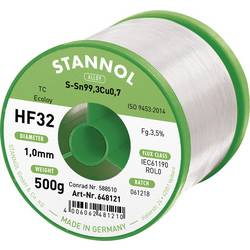 Neosvinčena žica za spajkanje Stannol HF32 3500 Sn99Cu1 500 g 1.0 mm