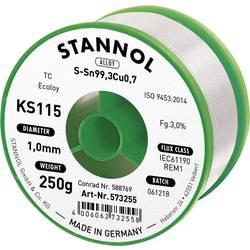 Neosvinčena žica za spajkanje Stannol KS115 SN99Cu1 250 g 1.0 mm