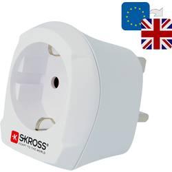 Potovalni adapter Skross 1.500230 Velika Britanija, bele barve