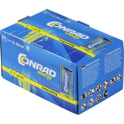 9 V block baterija 6LR61 Conrad energy alkalno-manganska 9 V 10 kom.a