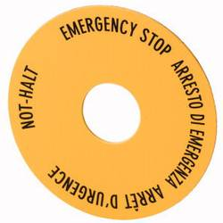 Ploča za natpise okrugao (Ø) 60 mm Stop u nuždi (de, en, fr, it) Žuta, Crna Eaton SRT11 1 ST