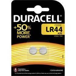 Gumbna baterija LR 44 alkalno-manganova Duracell Elektro AG13 105 mAh 1.5 V, 2 kosa