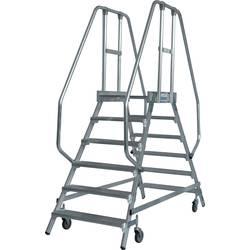 Aluminijasta podestna lestev, mobilna, delovna višina (maks.): 3.45 m Krause 820266 srebrne barve 47.5 kg