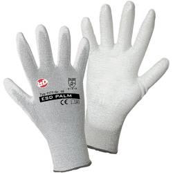 Fine štrikane rukavice Worky 1171 ESD, poliamid/karbonska vlakna s PU-prevlakom, vel. 9