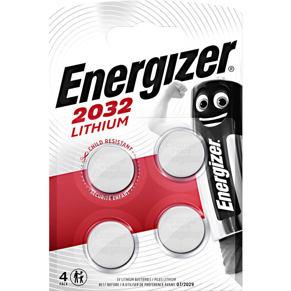 Gumbasta baterija CR 2032 litijska Energizer CR2032 240 mAh 3 V 4 kom.