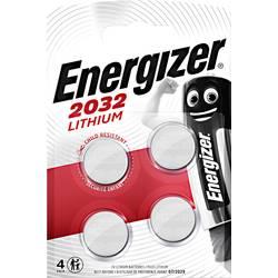 Gumbna baterija CR 2032 litijeva Energizer CR2032 240 mAh 3 V, 4 kosi