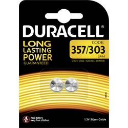 Gumbna baterija 357 srebrovo-oksidna Duracell 357/303 190 mAh 1.55 V, 2 kosa