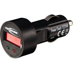 Voltmeter za vozila 24 V, 12 V PowerCheck12/24V-bl Ansmann 1900-0019