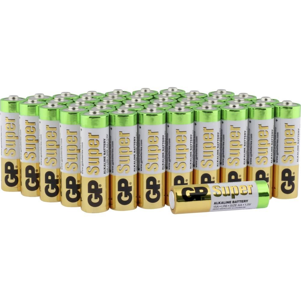 Mignon baterija (AA) alkalno-manganova GP Batteries Super Alkaline 1.5 V 40 kosov