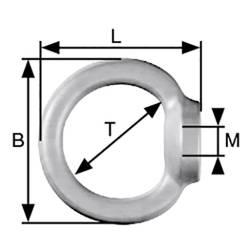 dörner + helmer prstenasta matica, tlačno lijevani cink galvansko pocinčani M6 10 kom.