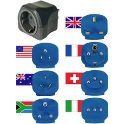 Potovalni adapter, komplet s 7 adapterji Brennenstuhl, črne in modre barve, 1508160