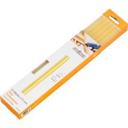 Palčke za vroče lepljenje Steinel, Ø 11 mm, 250 mm, prozorno rumene, 006778, 10 kosov, 250 g