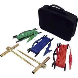 Chauvin Arnoux P01102017 Set dodatne opreme za merjenje ozemljitve - 2 zemeljski elektrodi (15 m); rdeča + zelena + modra, P0110