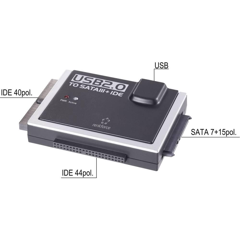 Renkforce USB 2.0 na IDE+SATA konverter