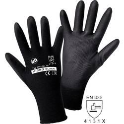 Fino pletene rokavice Worky MICRO black, 100% najlon s PU-prevleko, velikost 9, 1151