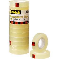 Scotch® ljepljiva traka 3M prozirna 550 (D x Š) 33 m x 12 mm prozirna 5501233 sadržaj: 12 koluta