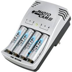 Ansmann Vtični polnilnik Photocam III vklj. 4 Mignon-akumulatorji 2850 mAh 5007093 Photocam III
