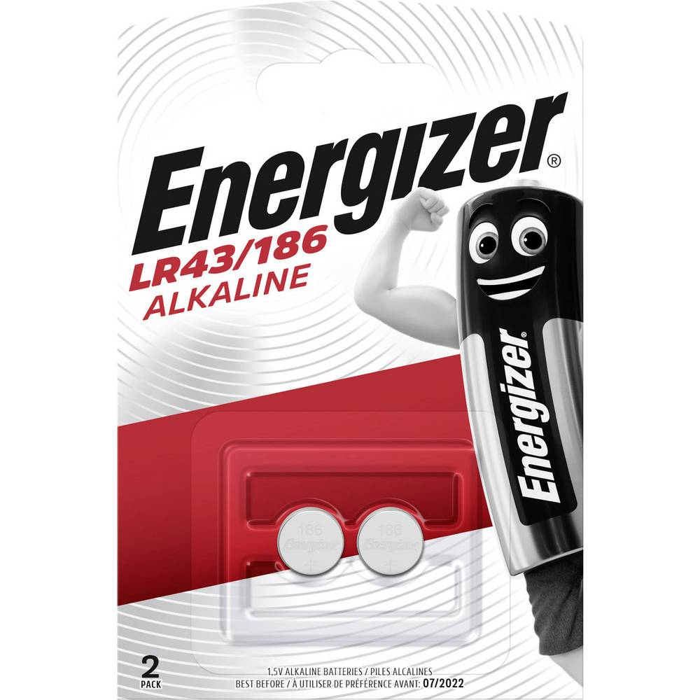 Gumbna baterija LR 43 alkalno-manganova Energizer AG12 123 mAh 1.5 V 2 kosa