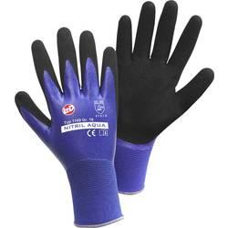 Leipold + Döhle 1169 fino pletene rukavice, nitril Aqua najlon s dvostrukom nitril prevlakom, veličina 9