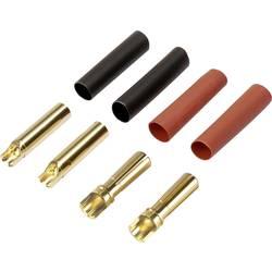 vtič akumulatorja 4 mm zlati kontaktni vtič pozlačen 2 par Reely 1373191