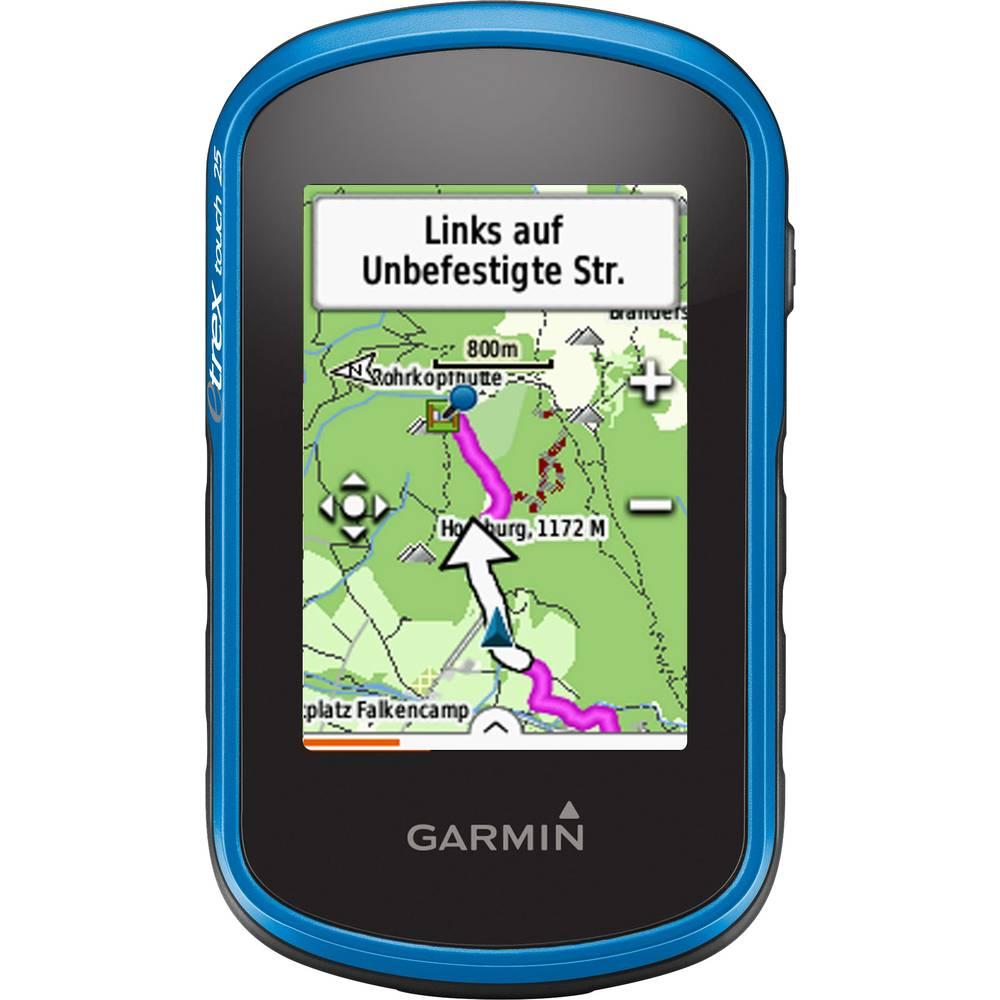 Računalo za bicikl i sport eTrex® Touch 25 Garmin uklj. TopoActive Europa, vanjska navigacija, navigacija za šetnje, navigacija za bicikl