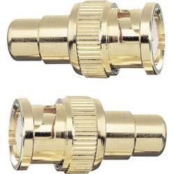 BNC / cinch adapter [1x BNC-vtič - 1x cinch-vtičnica] zlate barve s pozlačenimi vtičnimi kontakti Oehlbach