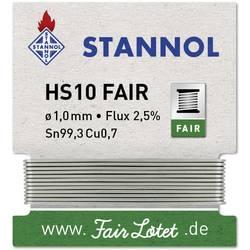 Spajkalna žica navita Stannol HS10-Fair Sn99.3Cu0.7 5 g 1.0 mm