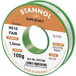 Spajkalna tuljava Stannol HS10-Fair Sn99.3Cu0.7 100 g 1.0 mm