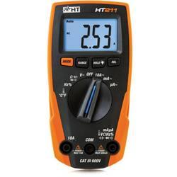 Ručni multimetar, digitalni HT Instruments HT211 kalibriran prema: tvorničkom standardu (bez certifikata) CAT III 600 V prikaz (
