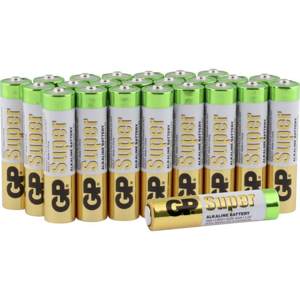 Micro (AAA)-baterija alkalij-manganova GP baterija Alkaline Super 1.5 V 24 kosov