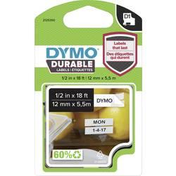 Označilni trak DYMO 1978364 iz vinila, barva traku: bele barve, barva pisave: črne barve 12 mm 5.5 m