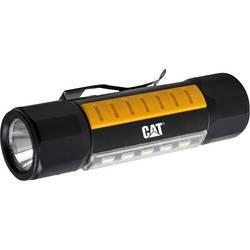 LED žepna svetilka z zaponko za pas CAT deluje na baterije 190 g črne, rumene barve