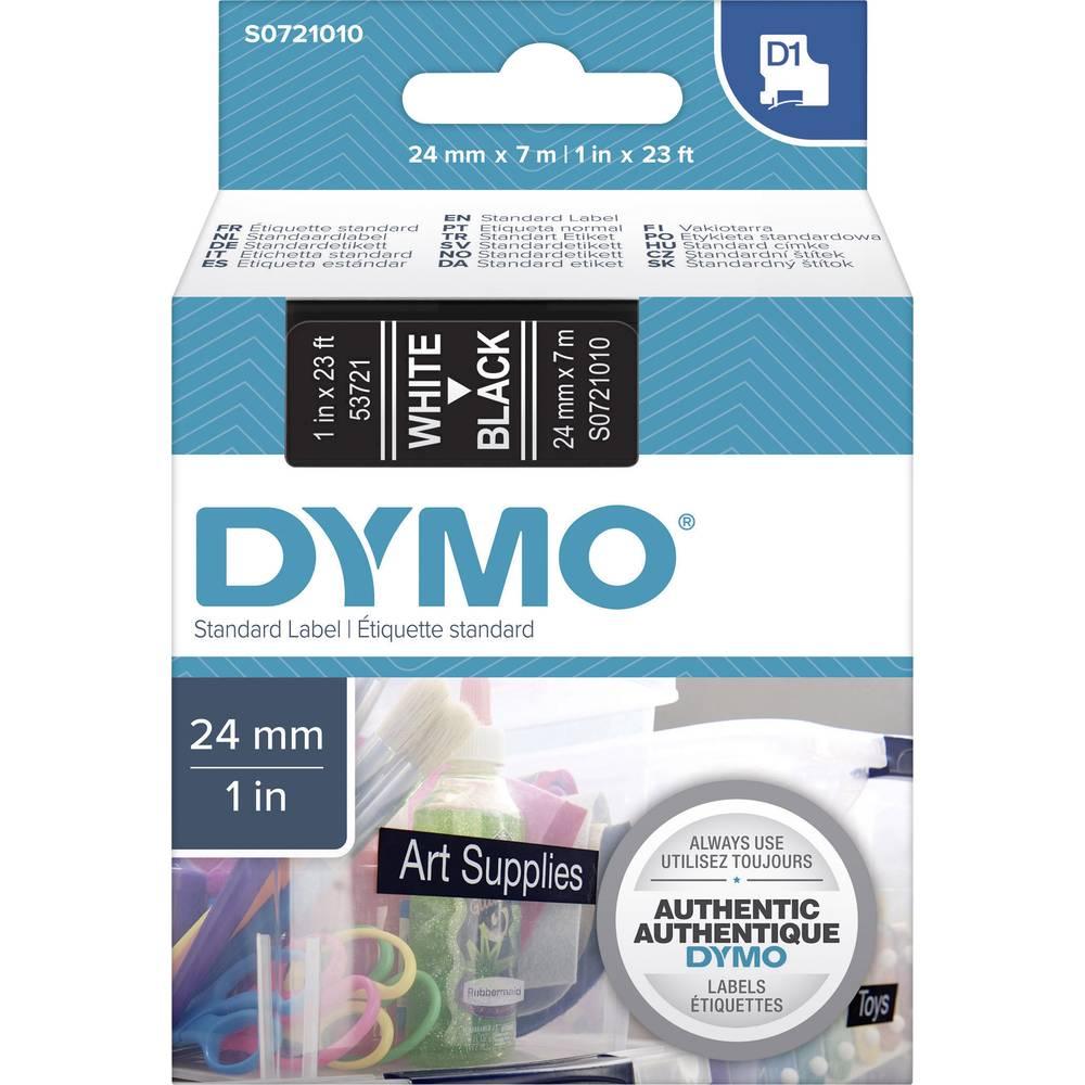 Pisalni trak DYMO D1 53721 trak: črne barve, barva pisave: bela 24 mm 7 m
