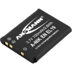 Ansmann A-Nik ENEL 19 akumulatorska kamera Nadomešča originalno baterijo EN-EL19 3.7 V 700 mAh