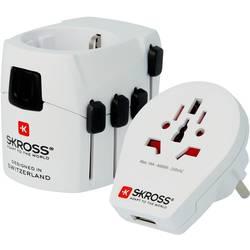 Skross 1302535 potovalni adapter PRO World & USB