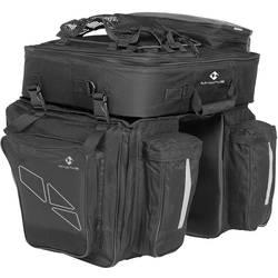 M-Wave Amsterdam Triple torba za prtljažnik črna, siva