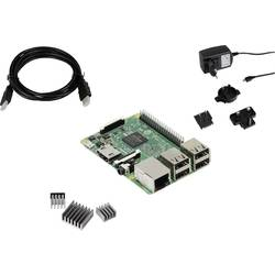 Raspberry Pi® 3 B RB-Pure-Set 1 GB 4 x 1.2 GHz uklj. hladnjak, Uklj. napajanje, uklj. HDMI kabel Joy-it