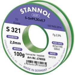Stannol S321 2,0% 2,0MM SN99,3CU0,7 CD 100G spajkalna žica, neosvinčena neosvinčeni, tuljava Sn99.3Cu0.7 100 g 2 mm
