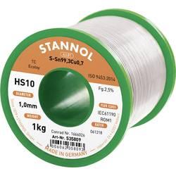 Stannol HS10 2,5% 1,0MM SN99,3CU0,7 CD 1000G Spajkalna žica, neosvinčena Neosvinčeni, Tuljava Sn99.3Cu0.7 1000 g 1 mm