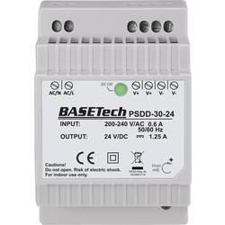 Basetech PSDD-30-24 DIN-napajanje (DIN-letva) 24 V 1.25 A 30 Wp 2 x