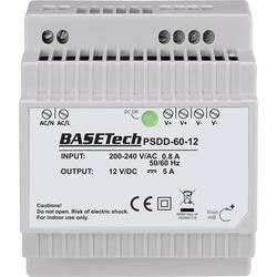 Basetech PSDD-60-12 DIN-napajanje (DIN-letva) 12 V 5 A 60 W 2 x