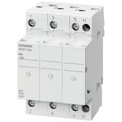 Siemens SENTRON, cilindrični nosilec varovalk, 8x32 mm, 3-polni, V: 20 A, Un AC: 400 V, ... 3NW7334