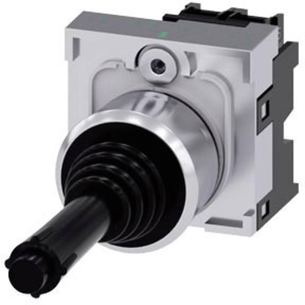 Siemens Stikalo za koordinate, 22mm, okroglo, kovina, visok sijaj, črna, 1S, 1S 3SU1150-7BD88-1NA0