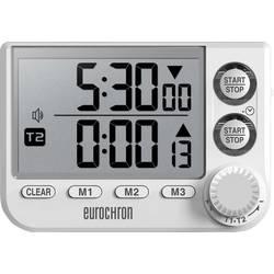 Mjerač vremena Eurochron EDT 8002 Bijela digitalni