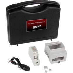 Joy-it sbc kućište Pogodno za: Raspberry Pi uklj. napajanje DIN tračnice, za montažu na DIN tračnicu siva