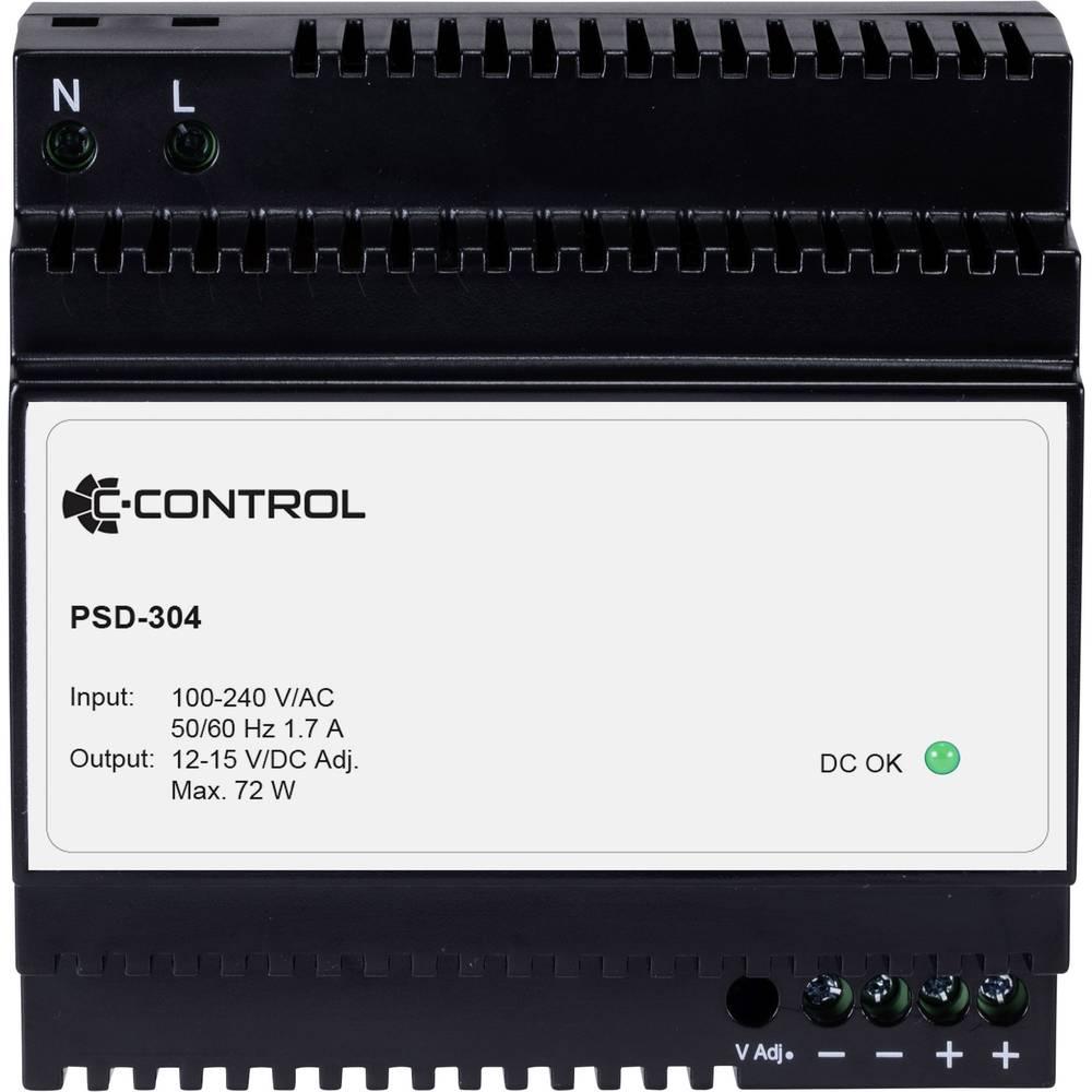 C-Control PSD-304 DIN-napajanje (DIN-letva) 12 V/DC 6 A 72 W 1 x