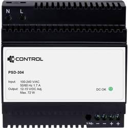 C-Control PSD-304 napajanje za din-letev Poraba (stanje pripravljenosti) 0.3 W 12 V/DC 6 A 72 W 1 x