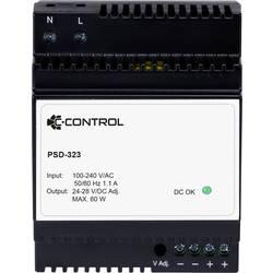 C-Control PSD-323 napajanje za din-letev Poraba (stanje pripravljenosti) 0.3 W 24 V/DC 2.5 A 60 W 1 x